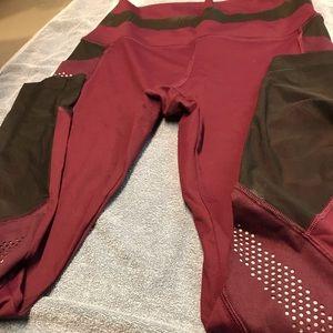 PINK Marron/black leggings